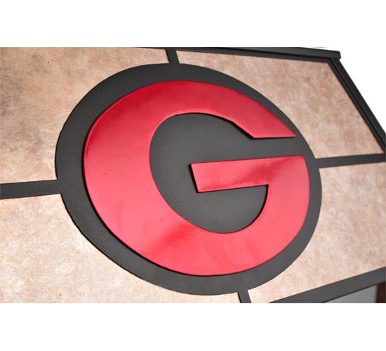 "33"" Custom Georgia Bulldogs Pool Table Light"