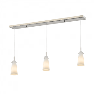 "46"" 3 Light Matte Opal Contemporary Billiard Light"