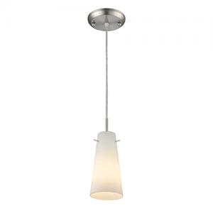 1 Light Matte Opal Contemporary Billiard Light