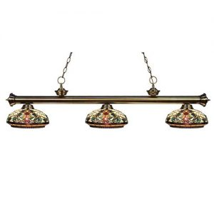 "57"" Tiffany Timeless Pool Table Light"