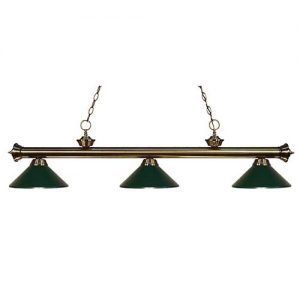 "57"" Metal Dark Green Pool Table Light"