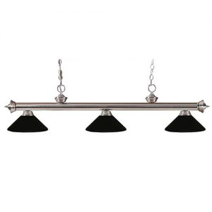 "57"" Metal Matte Black Pool Table Light"