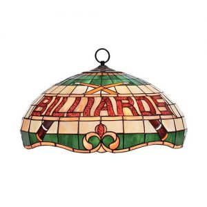 "16"" Tiffany Billiard Text Pendant"