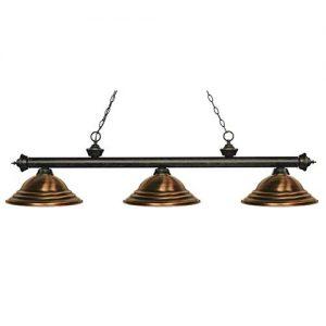 "59"" Stepped Metal Antique Copper Billiard Light"