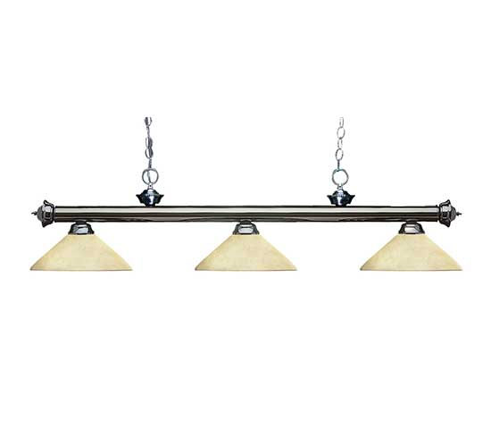 """57"""" Glass Cone Pool Table Light"""