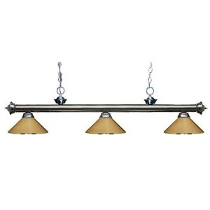 "57"" Metal Polished Brass Pool Table Light"