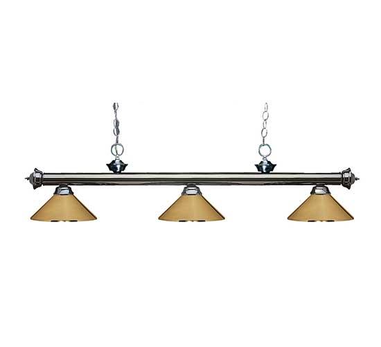 """57"""" Metal Polished Brass Pool Table Light"""