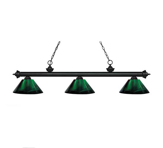 "57"" Acrylic Green Pool Table Light"