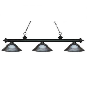 "59"" Stepped Gun Metal Pool Table Light"