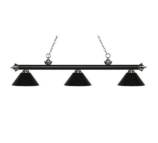57″ Plastic Black Pool Table Light