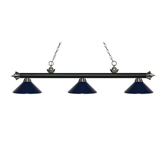 "57"" Metal Navy Blue Pool Table Light"