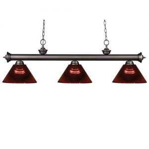 57″ Acrylic Burgundy Pool Table Light