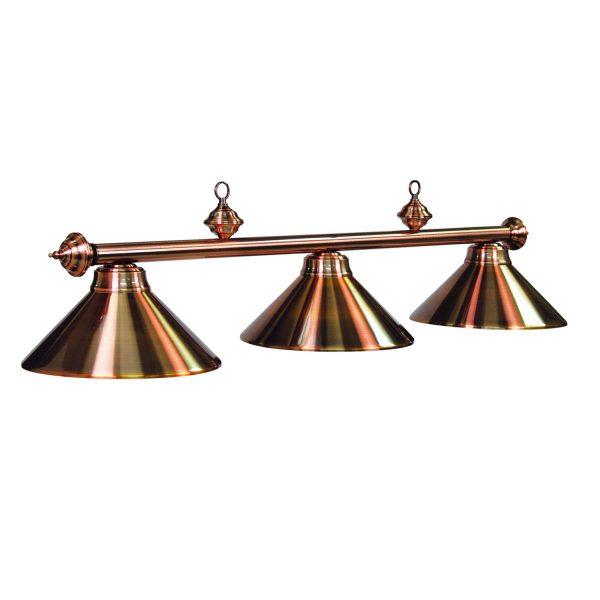 3 Light Copper Pool Table Light