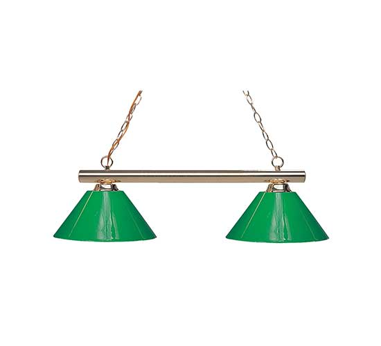 Delicieux Green Plastic Shade 3 Or 2 Light Pool Table Light