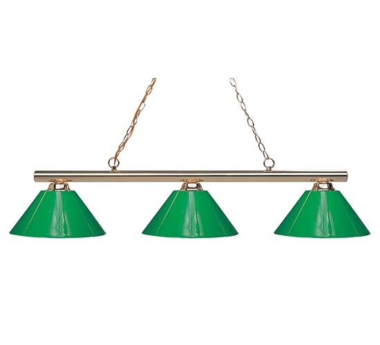 Green & Plastic Shade Pool Table Light