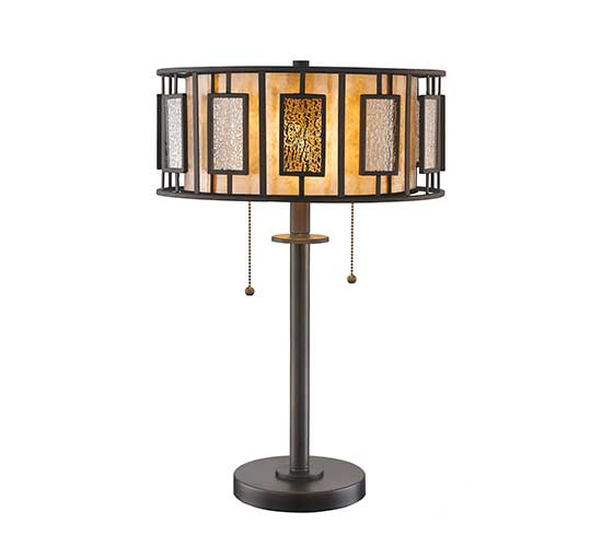 22 0 Multi Colored Bronze Side Table Lamp