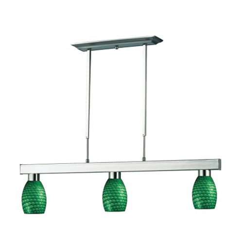 "42"" Green, White Billiard Lights"