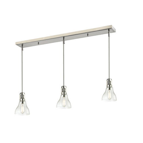 "49.5"" Brushed Nickel, Chrome, Bronze Billiard Lights"