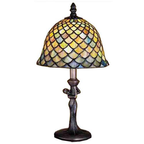 "15""H Tiffany Fishscale Mini Lamp"