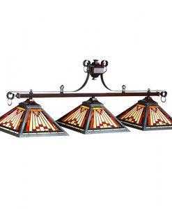 "Laredo Tiffany 54"" 3 Light Pool Table Light"