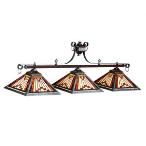 "Laredo Tiffany 54"" 3 Light Pool Table Light"