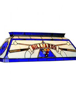 RAM Game Room Blue 4 Light Tiffany Pool Table Light - CF BILLIARD BLU