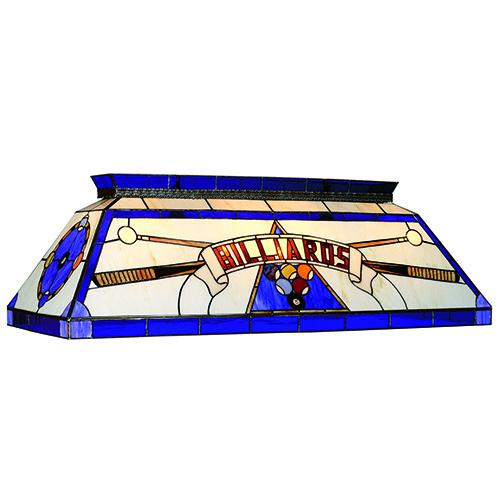 RAM Game Room Blue 4 Light Tiffany Pool Table Light - CF BILLIARD BLU