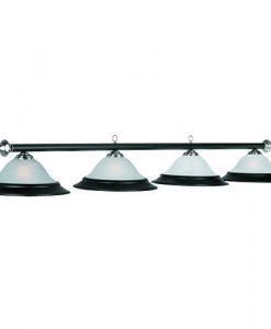 """82"""" 4 Light Pool Table Light - Matte Black - PR282 MB/ST"""