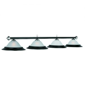 "82"" 4 Light Pool Table Light - Matte Black - PR282 MB/ST"