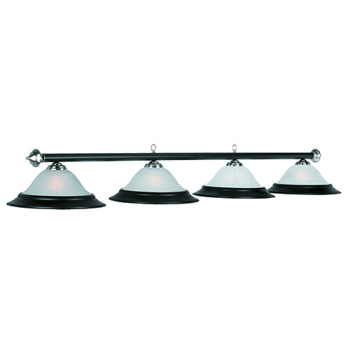"Pool Table Light Black: 82"" 4 Light Pool Table Light"