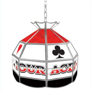 Trademark Global Small Four Aces Poker Room Light