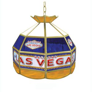"16"" Small Trademark Global Las Vegas Poker Table Light"