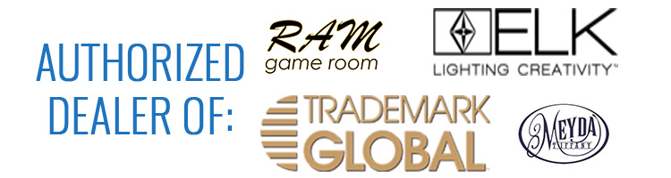 Authorized Billiard Lighting Dealer of: Ram Game Room, Trademark Global, Z-Lite, ELK Lighting, and more!