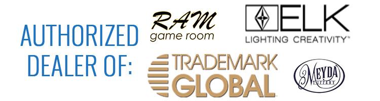 Authorized Billiard Lighting Dealer of: Ram Game Room, Trademark Global, Z-Lite, ELK Lighting, and more!